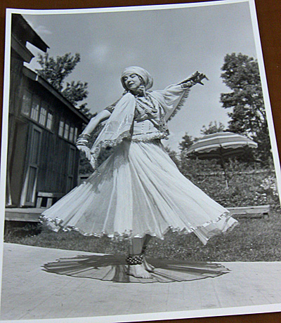 Full view of Ruth St. Denis at Jacob's Pillow, MA.