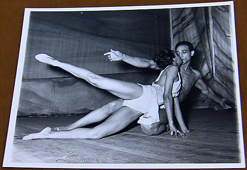 Male and female ballet dancers in an undated photo.