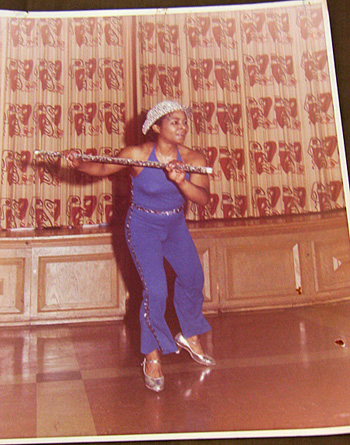 Unidentified female tap dancer performs.