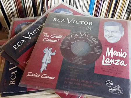 Recordings by Mario Lanza in a room in Maynard Bertolet's home.