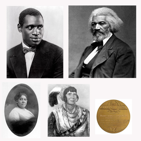 Some of the people - and award - featured in the black history contest.