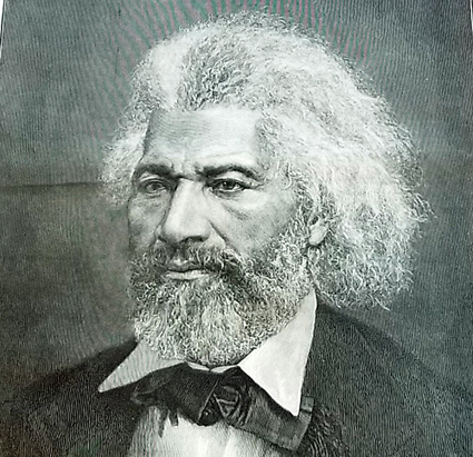 Up-close view of Frederick Douglass on cover of Harper's Weekly, Nov. 24, 1883.