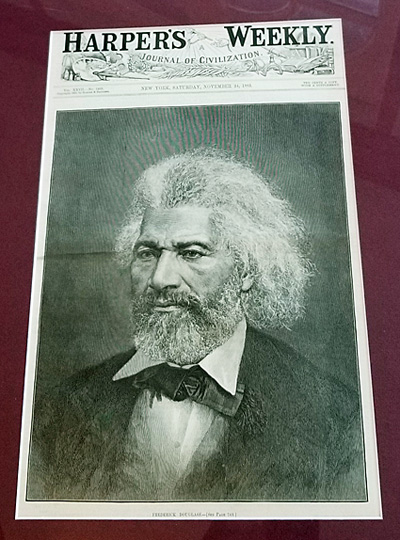 Full view of Frederick Douglass on Harper's Weekly cover, Nov. 24, 1883.