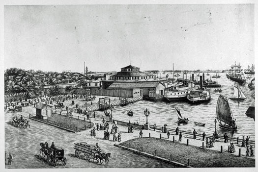 Castle Garden, circa 1860. National Archives photo from timeline.com.