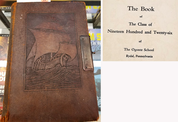 The front cover and an inside page of the 1926 Ogontz School yearbook.