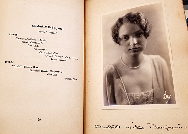A graduate's page in the Ogontz School yearbook, 1926.