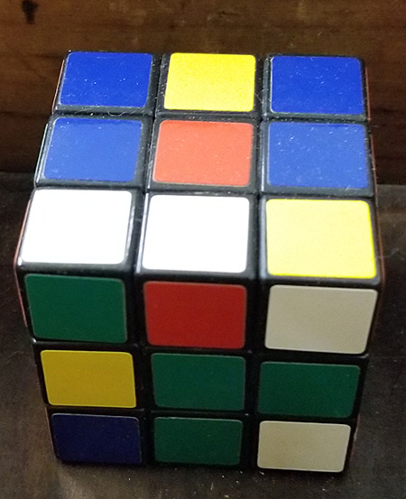 A Rubik's Cube from a box at auction.