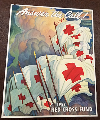 Full view of the N.C. Wyeth poster from auction.