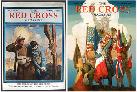 N.C. Weyth Red Cross magazine covers, 1918 and 1919. From atticpaper.com and americanarchives.com.