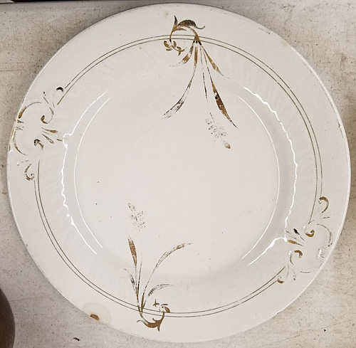 Plate belonging to Norman Fulmer's mother.