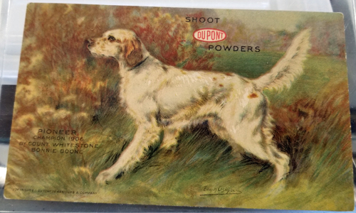 Using hunting-dog postcards to sell gunpowder | Auction Finds
